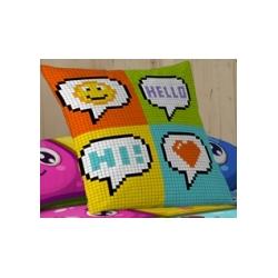 Pillowcase Hello 50x50 cm