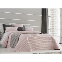 Bedspread Naroa Rose 250x270 cm velvet