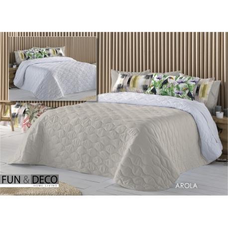 Bedspread Arola Beig 250x270 cm microfiber