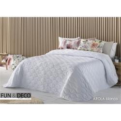 Bedspread Arola Blanco 250x270 cm microfiber