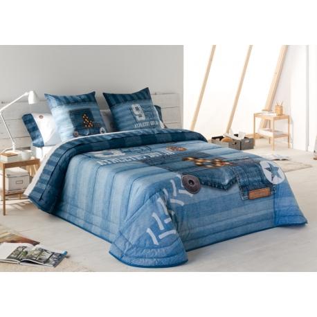 Bedspread Jeans 180x270 cm