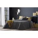 Bedspread Nantes Gris 250x270 cm velvet