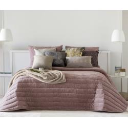 Bedspread Nantes Rose 250x270 cm velvet