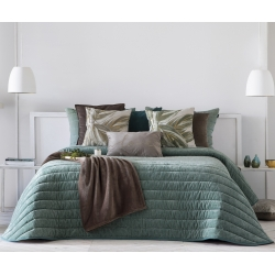 Bedspread Nantes Menta 250x270 cm velvet
