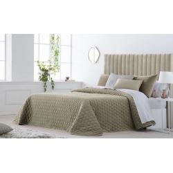 Bedspread Smart Beige 250x270 cm velvet