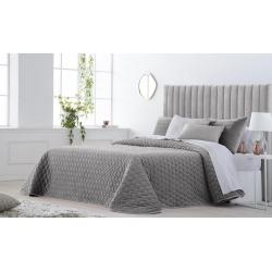 Bedspread Smart Gris 250x270 cm velvet