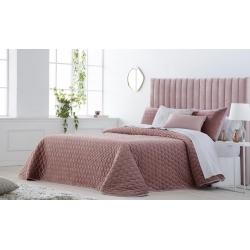 Bedspread Smart Rosa 250x270 cm velvet