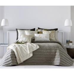 Bedspread Nantes Beig 235x270 cm velvet